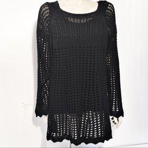Kate & Mallory Black knitted dress Sz 1X